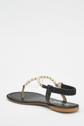 ef2e68724 Faux Pearl Flat Sandals - Just £5