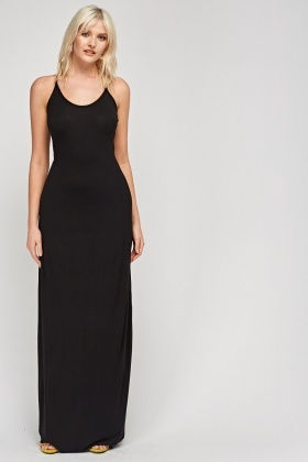 Cross Back Maxi Dress