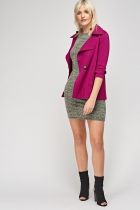 Lapel Front Double Breasted Coat