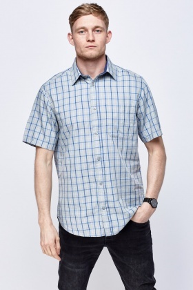 Light Grey Checked Shirt