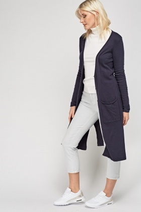 Long Line Thin Knit Cardigan