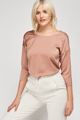 Nude Contrast Front Top