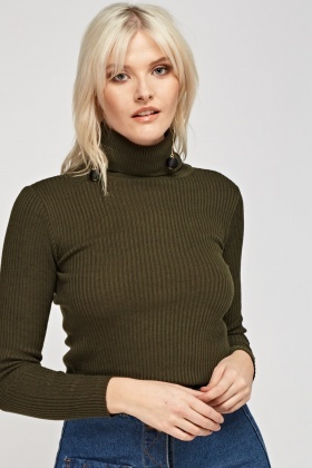 bab9e653013 Ribbed Turtle Neck Top - Just £5