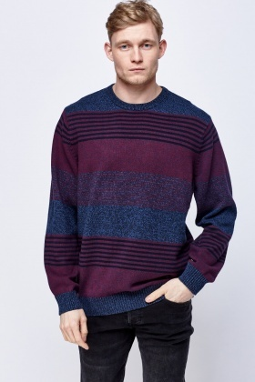 Speckled Striped Sweater