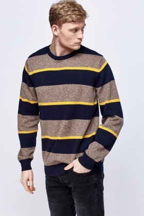 Striped Speckled Sweater