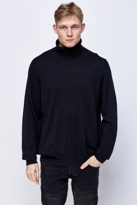 Thin Knit Roll Neck Sweater