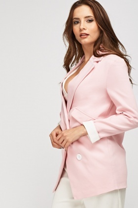 Double Breasted Lapel Front Jacket