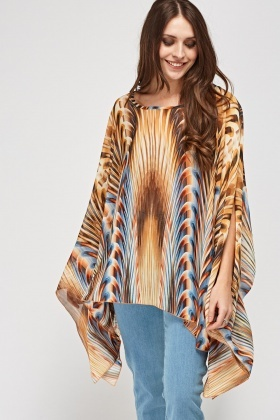 Sheer Printed Coverup