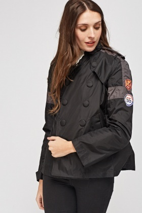 Waterproof Applique Sleeve Jacket