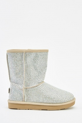 Encrusted Winter Boots