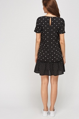 Mixed Polka Dot Swing Dress