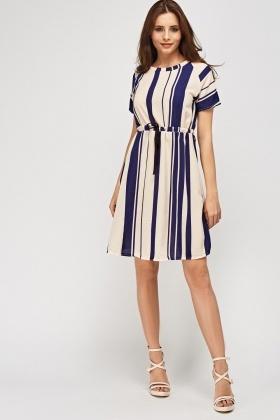 15da4e7a77e24 Striped Casual Dress