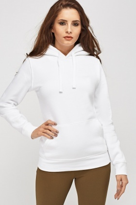 White Hooded Sweatshirt