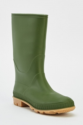 Green Wellie Boots