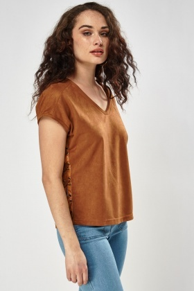Suedette Lace Up Side Top