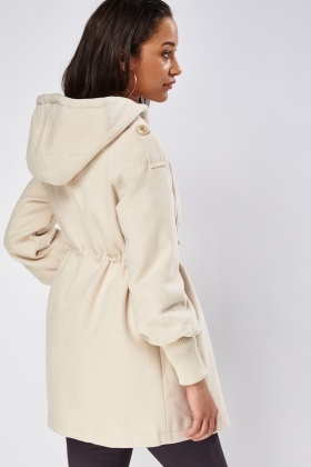 Cream Hooded Jacket