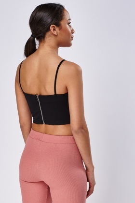 Criss Cross Black Bralet