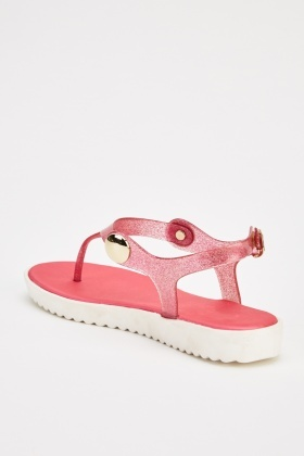 Glittered Flip Flop Casual Sandals