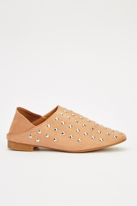 Studded Court Slip On Shoes