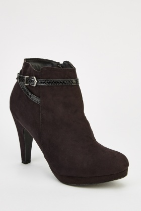 Suedette Heeled Boots