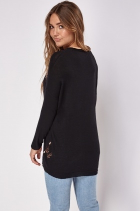 Sequin Knitted Pullover