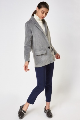 Lapel Front Fleece Jacket