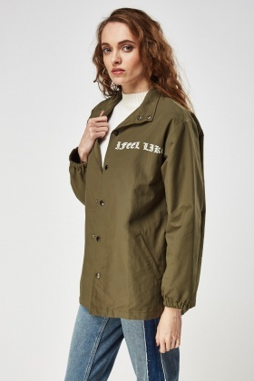 Slogan Oversized Jacket