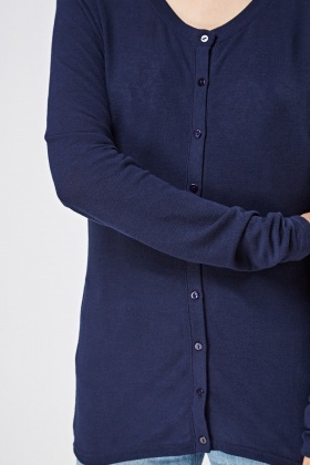 Button Up Longline Cardigan