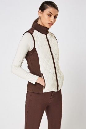 Contrast Quilted Gilet