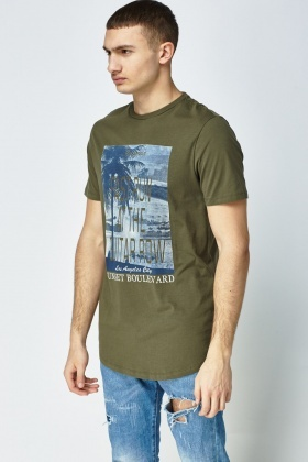 Longline Fit Printed T-Shirt
