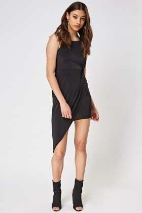 Twisted Side Asymmetric Dress
