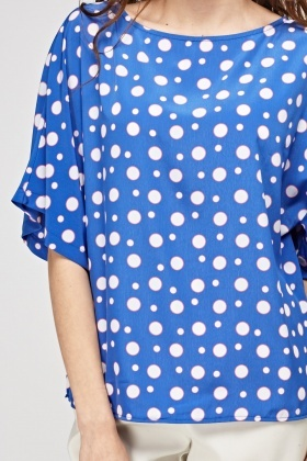 Polka Dot Printed Box Top