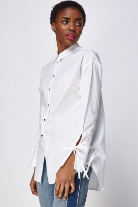 Lace Up Side Shirt