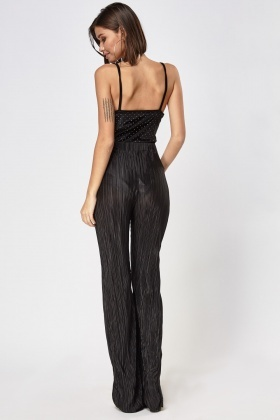Wide Leg Pleated Trousers