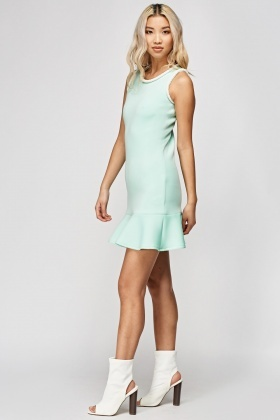 Beaded Trim Scuba Dress