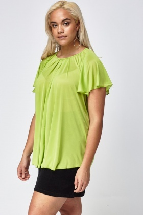 Short Flared Sleeve Top