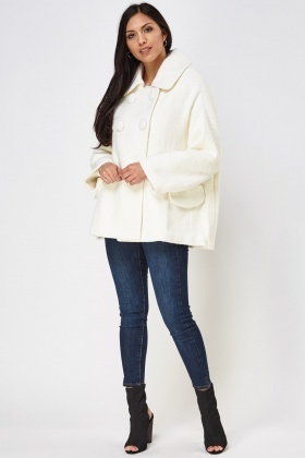 Button Front A-Line Coat