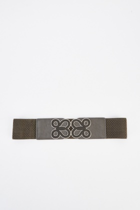Metallic Trim Cinch Belt