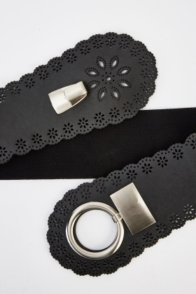 Scallop Trim Laser Cut Wide Belt