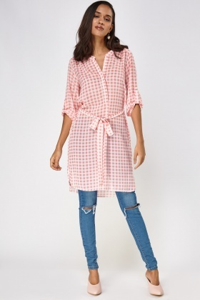 Checked Long Shirt