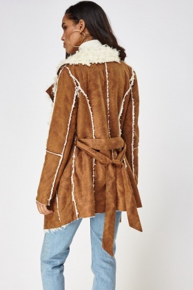 Heavy Weight Faux Suede Coat
