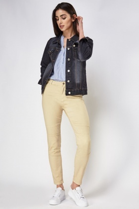 Ribbed Slim Leg Jeans