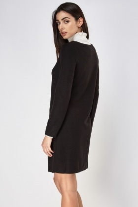 Zip Front Textured Dress