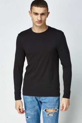 Round Neck Thermal Thin Top