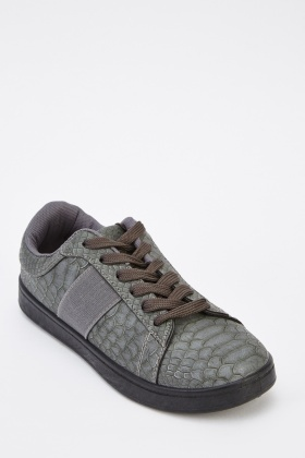 Textured Low Top Trainers
