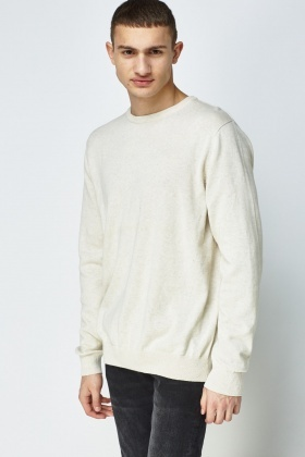 Cream Casual Sweater