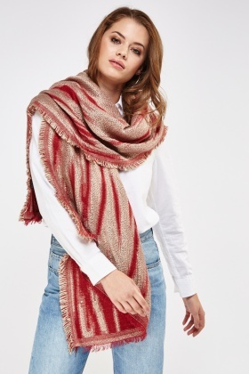 Metallic Insert Knitted Scarf
