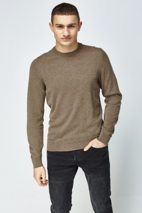 Taupe Thin Knitted Sweater