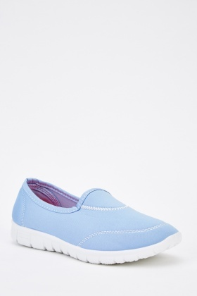 Contrast Stitched Slip On Shoes