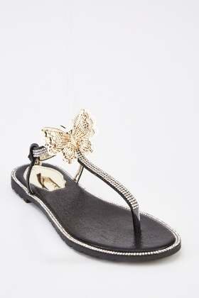 Embellished Butterfly Sandals